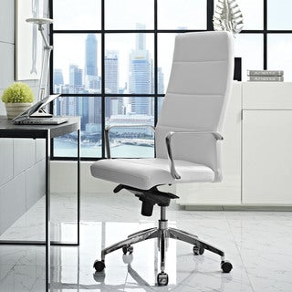 Modway Stride Black/Grey/Yellow/Brown Aluminum and Vinyl Highback Office Chair