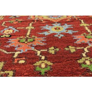eCarpetGallery Serapi Heritage Orange Wool and Cotton Hand-knotted Oriental Rug (2'7 x 7'11)