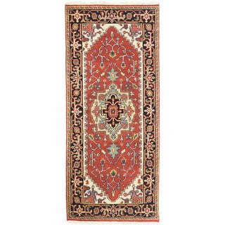 eCarpetGallery Serapi Heritage Brown Wool/Cotton Hand-knotted Rug (2'6 x 5'11)