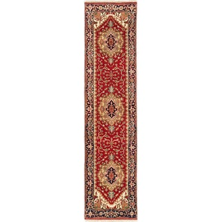 eCarpetGallery Hand-knotted Serapi Heritage Red Wool Rug (2'6 x 10'1)