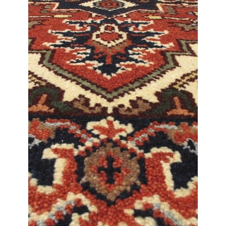 eCarpetGallery Serapi Heritage Brown Wool/Cotton Hand-knotted Runner Rug (2'6 x 12'2)
