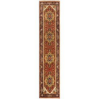 eCarpetGallery Serapi Heritage Brown Wool/Cotton Hand-knotted Runner Rug (2'6 x 11'8)