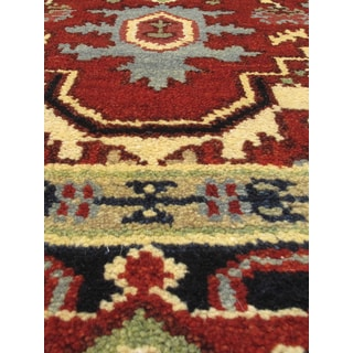 Hand-knotted Serapi Heritage Copper Wool Rug - 4'1 x 5'9