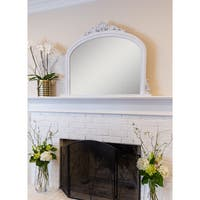Selections by Chaumont Amarone White Over Mantel Mirror - White Washed