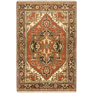 eCarpetGallery Hand-knotted Serapi Heritage Copper/Blue/Brown Wool Rug (3'11 x 5'11)