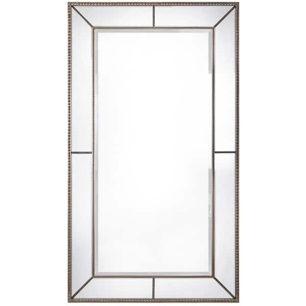 Roxburghe Pewter Leaner Mirror Clear Overstock 12828545