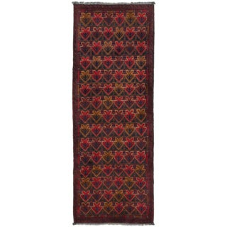 eCarpetGallery Red Wool Hand-knotted Khal Mohammadi Area Rug (1'8 x 4'10)