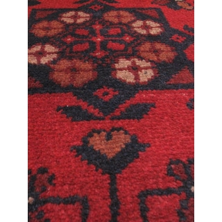 eCarpetGallery Hand-knotted Finest Khal Mohammadi Black/Brown/Red Wool Rug (1'9 x 4'10)