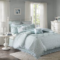 The Gray Barn Sleeping Hills 9-piece Aqua Cotton Percale Duvet Cover Set