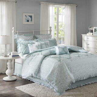 The Gray Barn Sleeping Hills 9-piece Aqua Cotton Percale Duvet Cover Set (3 options available)