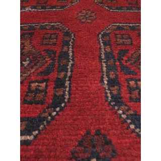 eCarpetGallery Hand-knotted Khal Mohammadi Red Wool Area Rug (1'9 x 5'1)