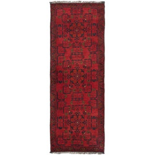 eCarpetGallery Finest Khal Mohammadi Red Wool Hand-knotted Oriental Rug (1'9 x 4'10)