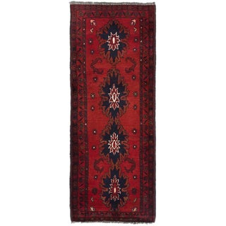 eCarpetGallery Hand-knotted Khal Mohammadi Red Wool Area Rug (1'10 x 4'10)