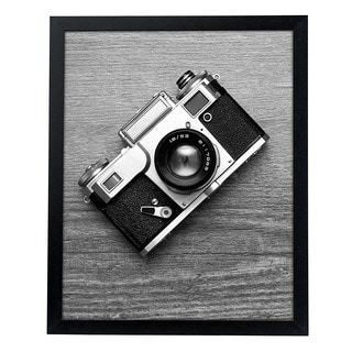 Black MDF/Glass/Plexiglass 16-inch x 20-inch Vertical or Horizontal Poster/Picture Frame with Mounting Hardware