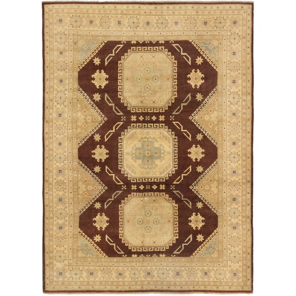 Shop ECarpetGallery Brown/Ivory Wool Hand-knotted Peshawar