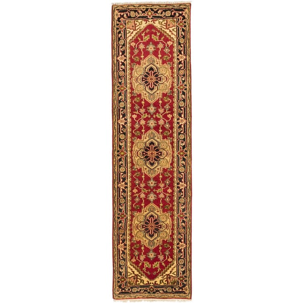 eCarpetGallery Serapi Heritage Red Hand-knotted Wool/Cotton Rug (2' x 9')