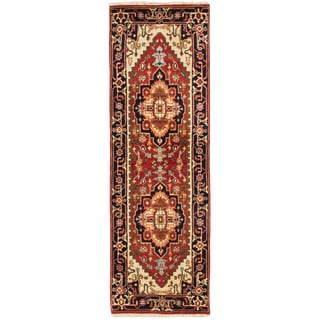 eCarpetGallery Serapi Heritage Brown Wool/Cotton Hand-knotted Runner Rug (2'6 x 7'9)