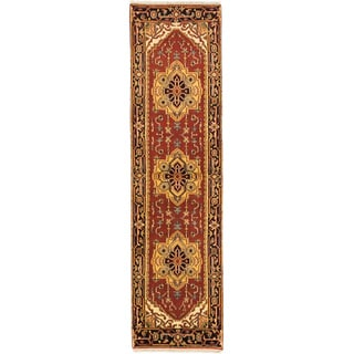 eCarpetGallery Serapi Heritage Orange Hand-knotted Wool/Cotton Rug (2' x 10')