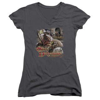 Labyrinth/Sir Didymus Junior V-Neck in Charcoal