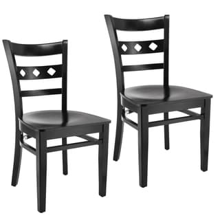 Petit Solid-colored Wood Diamond Dining Chairs (Set of 2)