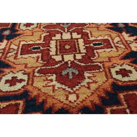 eCarpetGallery Hand-knotted Serapi Heritage Orange Wool Rug (2'6 x 7'9)
