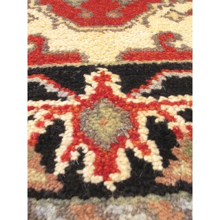 eCarpetGallery Multicolored Wool/Cotton Hand-knotted Serapi Rug (2'8 x 10'0)