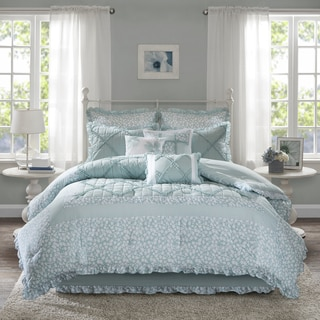 The Gray Barn Sleeping Hills 9-piece Aqua Cotton Percale Comforter Set