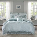 Madison Park Heidi Aqua Cotton Comforter Set