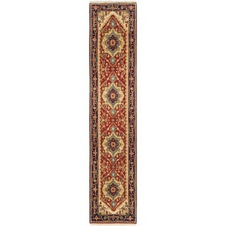 eCarpetGallery Serapi Heritage Brown Wool and Cotton Hand-knotted Oriental Runner Rug (2'6 x 11'9)