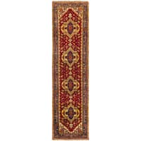 eCarpetGallery Serapi Heritage Orange Wool/Cotton Hand-knotted Runner Rug (2'7 x 9'10)