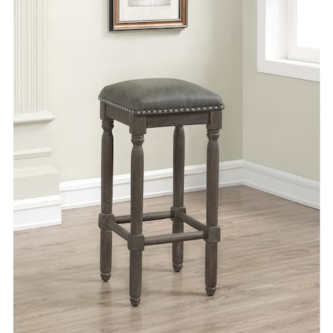 Copper Grove Sherwood 26-inch Dark Grey Leather Counter Stool