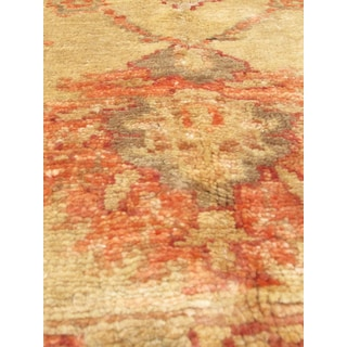 eCarpetGallery Chobi Finest Brown/Yellow Wool and Cotton Hand-knotted Oriental Area Rug (5'8 x 7'7)