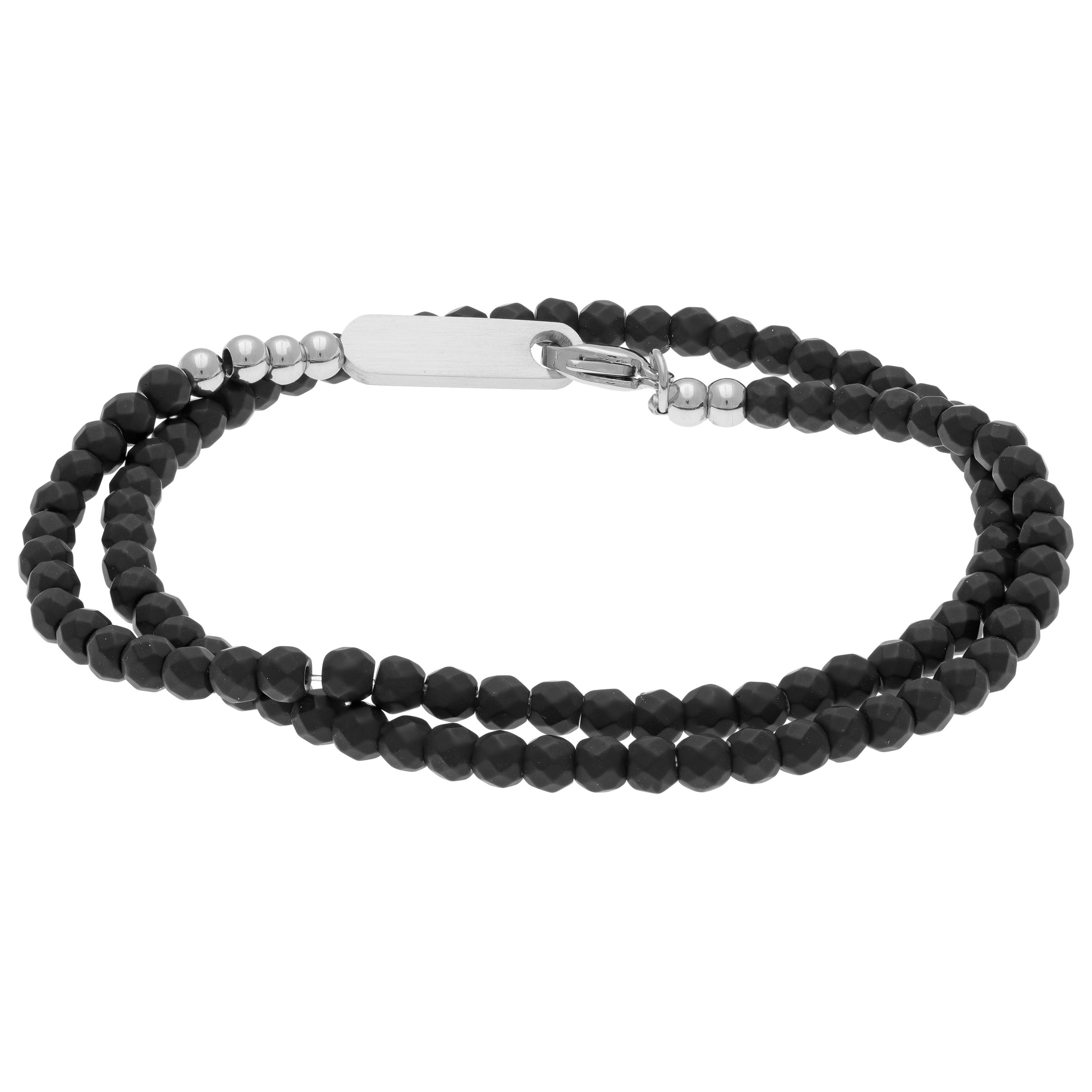 Black Hematite Bracelet with Stainless Steel Closure (Hem...