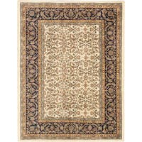 eCarpetGallery Jamshidpour Blue/Ivory Wool and Cotton Hand-knotted Oriental Area Rug (8' x 6')