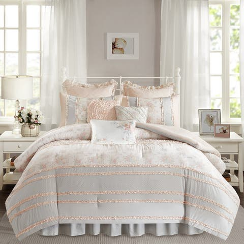 The Gray Barn Newbridge Coral Cotton Percale Comforter Set