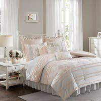 Madison Park Harmony Coral Cotton Percale Comforter Set