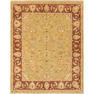 eCarpetGallery Yellow Wool/Cotton Hand-knotted Chobi Twisted Rug (6'4 x 8'0)