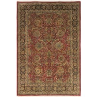 eCarpetGallery Jamshidpour Red Hand-knotted Wool/Cotton Rug (8' x 12')