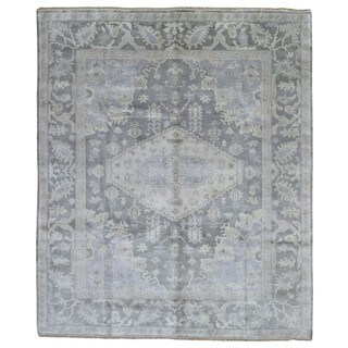 FineRugCollection Grey Wool Hand-knotted Oushak Oriental Area Rug (8'3 x 9'9)