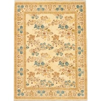 eCarpetGallery Chobi Yellow/Brown Wool and Cotton Twisted Hand-knotted Oriental Area Rug (9'1 x 12'3)