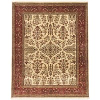eCarpetGallery Blue/Brown Wool Hand-knotted Jamshidpour Area Rug (8'0 x 9'11)