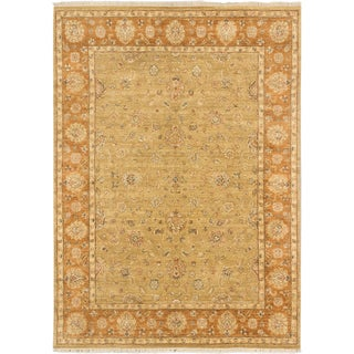 eCarpetGallery Chobi Twisted Ivory Hand-knotted Wool/Cotton Rug (8' x 12')