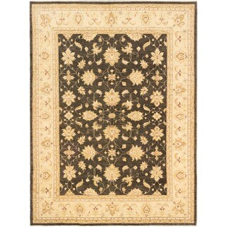 eCarpetGallery Chobi Finest Grey Hand-knotted Wool Rug (9'2 x 12'4)