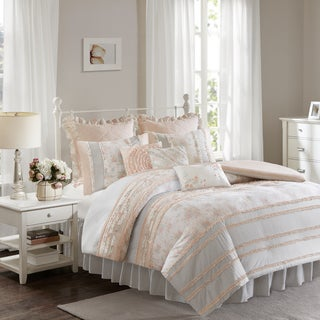 Madison Park Harmony Coral Cotton Percale Duvet Set (5 options available)