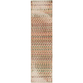 eCarpetGallery Hand-Knotted Anatolian Sunwash Ivory/Red Wool Rug (2'9 x 10'11)