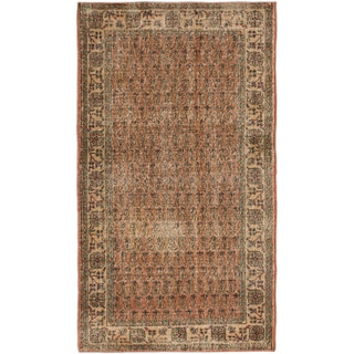 eCarpetGallery Anatolian Sunwash Brown Wool and Cotton Hand-knotted Oriental Area Rug (3'9 x 6'8)