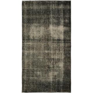 eCarpetGallery Dark-green Wool/Cotton Hand-knotted Overdyed Anatolian Rug (3'7 x 6'8)