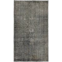 eCarpetGallery Grey Wool Hand-knotted Overdyed Anatolian Area Rug (3'10 x 6'9)