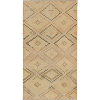 eCarpetGallery Anatolian Sunwash Yellow Wool and Cotton Hand-knotted Oriental Area Rug (6'5 x 11'10)