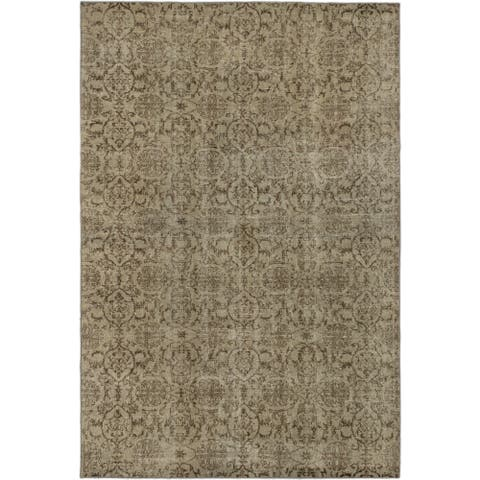 eCarpetGallery Hand-knotted Anatolian Overdyed Gray Wool Rug (6'7 x 9'9)